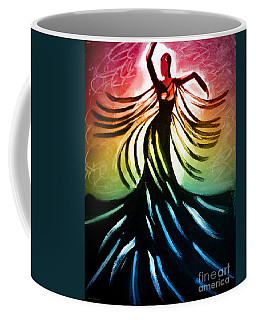 Coffee Mug featuring the painting Dancer 3 by Anita Lewis