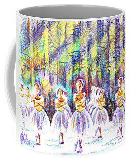 Coffee Mug featuring the painting Dancers In The Forest by Kip DeVore