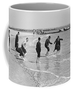 Coffee Mug featuring the photograph Dancing Hasidm Coney by Dave Beckerman