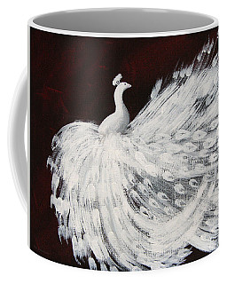 Dancing Peacock Burgundy Coffee Mug