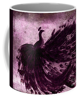 Coffee Mug featuring the painting Dancing Peacock Plum by Anita Lewis
