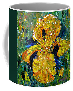 Dancing Yellow Iris Coffee Mug
