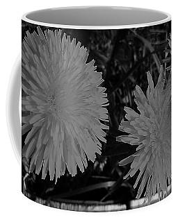 Coffee Mug featuring the photograph Dandelion Weeds? B/w by Martin Howard