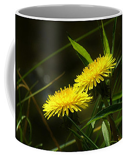 Coffee Mug featuring the photograph Dandelions by Sherman Perry