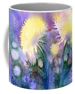 Coffee Mug featuring the painting Dandelions by Teresa Ascone