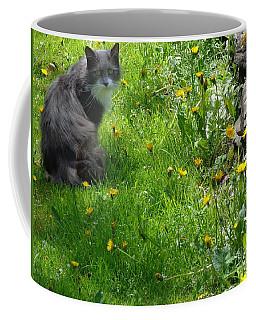 Dandy Lion Cat Coffee Mug by Christina Verdgeline