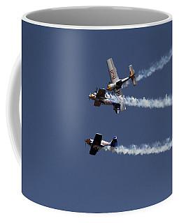 Coffee Mug featuring the photograph Dangerously Close Encounter by Ramabhadran Thirupattur