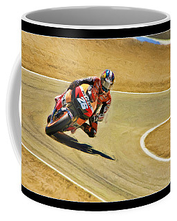 Dani Pedrosa Running Out Of Road Coffee Mug