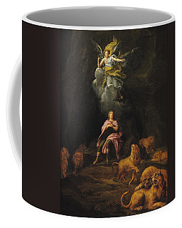 Daniel In The Den Of Lions Oil On Canvas Coffee Mug