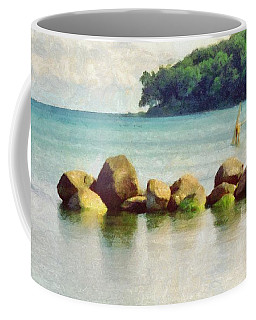 Danish Coast On The Rocks Coffee Mug