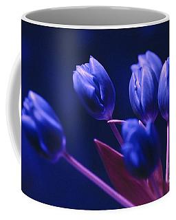 Dark Blue Tulips Coffee Mug