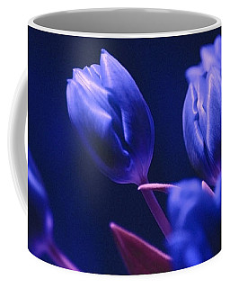 Dark Blue Tulips Coffee Mug
