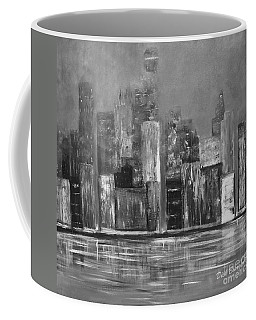 Dark Clouds Over The City Coffee Mug by Dick Bourgault