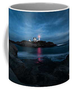 Dark Night At The Nubble Coffee Mug
