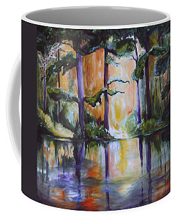 Coffee Mug featuring the painting Dark Woods by Nadine Dennis