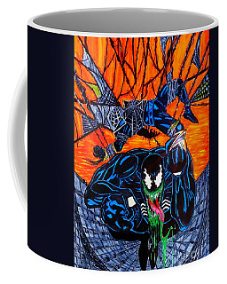 Coffee Mug featuring the drawing Darkhawk Issue 13 Homage by Justin Moore