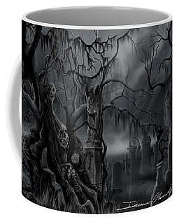 Darkness Has Crept In The Midnight Hour Coffee Mug by James Christopher Hill
