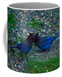 Darling I Have To Tell You A Secret-sweet Stellar Jay Couple Coffee Mug