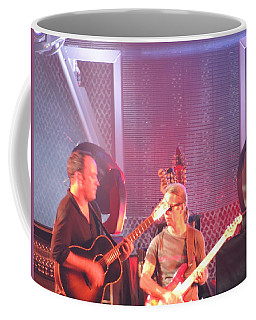 Coffee Mug featuring the photograph Dave And Tim Jam On The Guitar by Aaron Martens
