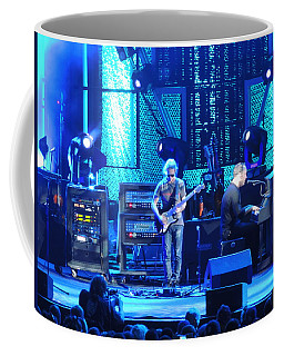 Coffee Mug featuring the photograph Dave And Tim Playing Out Of My Hands by Aaron Martens