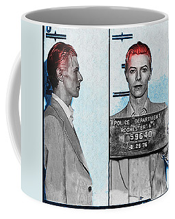 David Bowie Mug Shot Coffee Mug