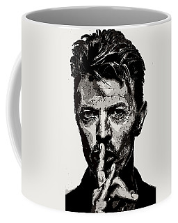 David Bowie - Pencil Coffee Mug by Doc Braham