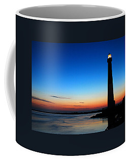 Dawn At Barnegat Light Coffee Mug by James Kirkikis