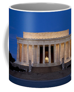 Coffee Mug featuring the photograph Dawn At Lincoln Memorial by Brian Jannsen
