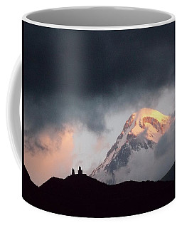 Dawn Caressing Mt Kazbek 2 Coffee Mug by Anastasia Savage Ealy