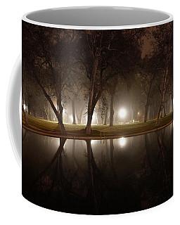 Dawn Mist Rising At Sycamore Pool  Coffee Mug
