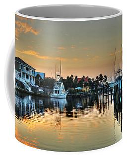 Dawn On A Orange Beach Canal Coffee Mug