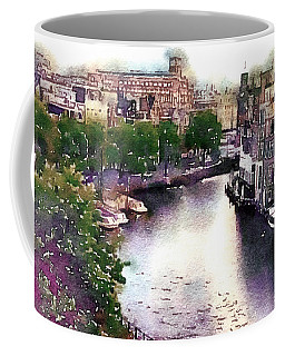 Coffee Mug featuring the photograph Dawn Rain Amsterdam by Susan Maxwell Schmidt