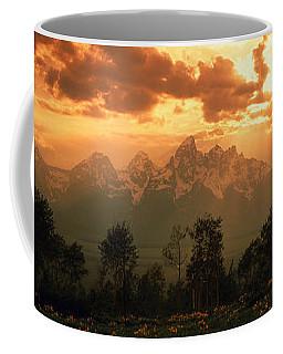 Dawn Teton Range Grand Teton National Coffee Mug by Panoramic Images