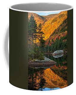Coffee Mug featuring the photograph Dawns Foliage Reflection by Jeff Folger