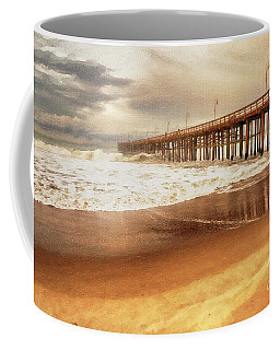 Day At The Pier Large Canvas Art, Canvas Print, Large Art, Large Wall Decor, Home Decor, Photograph Coffee Mug by David Millenheft