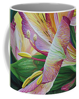 Coffee Mug featuring the painting Day Lilies by Jane Girardot