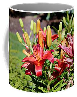 Day Lillies In The Garden Coffee Mug
