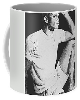 Coffee Mug featuring the drawing Daydreaming by Sophia Schmierer