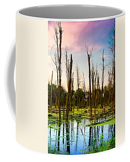 Coffee Mug featuring the photograph Daylight In The Swamp by Lars Lentz