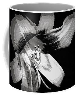 Daylily In Gray Coffee Mug