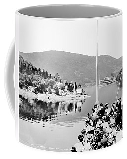 Dayliner At The Narrows In Black And White Coffee Mug
