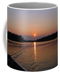 Coffee Mug featuring the photograph Sunset Fishing by Debbie Oppermann