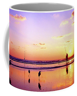 Daytona Beach Fl Surf Fishing And Birds Coffee Mug