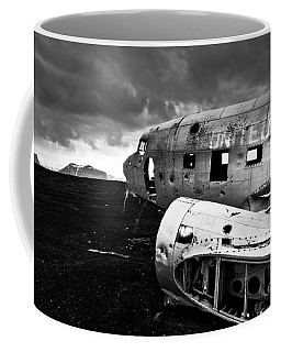 Coffee Mug featuring the photograph Dc-3 Iceland by Gunnar Orn Arnason