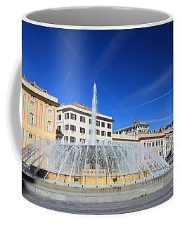 De Ferrari Square - Genova Coffee Mug by Antonio Scarpi