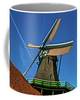 De Kat Blue Skies Coffee Mug by Jonah  Anderson