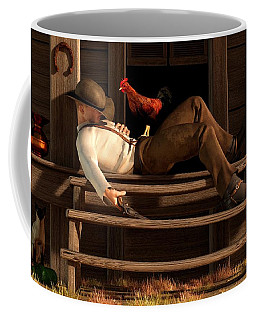Deaf To The Rooster's Call Coffee Mug