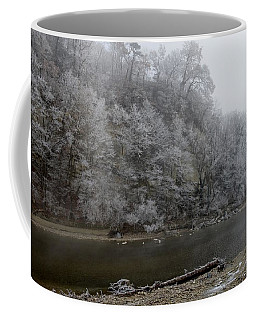 Coffee Mug featuring the photograph December Morning On The River by Felicia Tica
