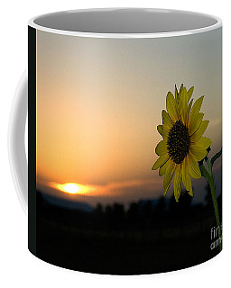 Coffee Mug featuring the photograph Sunflower And Sunset by Mae Wertz