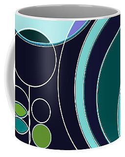 Deco Circles In Blue Coffee Mug